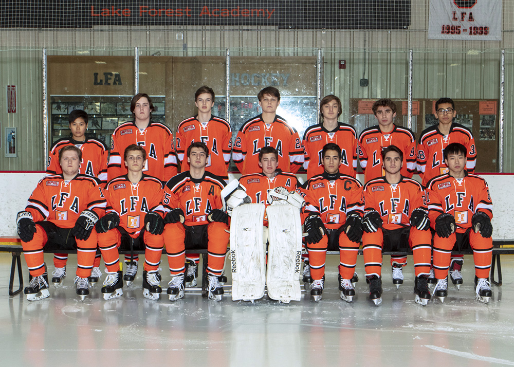 varsity boys ice hockey team photo